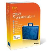 Microsoft Office Professional 2010 -Full Package Product,1 PC, 1 tragbares Gerät desselben Benutzers,DVD,Win,Deutsch,32/64-bit