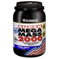 Weight Gainer Weider Mega Mass 2000, Vanille, 1,5kg Dose