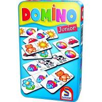 Domino Schmidt Spiele 51240 Domino: Domino Junior in Metalldose