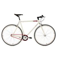 Fahrrad KS Cycling Fahrrad Fitness-Bike Single Speed Essence RH 56 cm, Weiß, 28, 390B