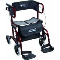 Rollstuhl Drive Medical metallic Rollator Diamond Deluxe, rot