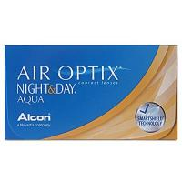 Kontaktlinsen Air Optix Night & Day Aqua Monatslinsen weich, 6 Stück / BC 8.6 mm / DIA 13.8 / -2 Dioptrien