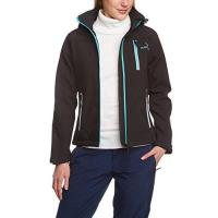 Black Canyon Damen Softshelljacke, schwarz/blau, 36 (S), BC2621