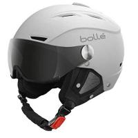 Skihelm mit Visier Bollé Skihelm Backline with 1 silver Gun and 1 lemon Visor, Soft White, 59-61 cm, 30765