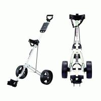 Golf Trolleys Big Max Basic Golf Trolley 2 Rad Push Farbe: Weiss