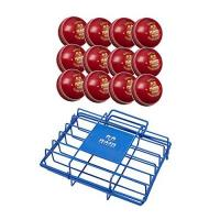 Cricketbälle RAM Cricket 4 Arten CricketBälle mit Luxus Tragetasche Crickettraining und Match