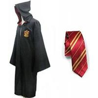 Kinder-Kostüm-Umhänge Great Adult Harry Potter Gryffindor Slytherin Ravenclaw Hufflepuff Fancy Robe Cloak Costume And Tie (S, Gryffindor Robe&Tie)