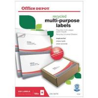 Massagegebälle Office Depot Recycling Universaletiketten 210 x 148 mm 100 Blatt