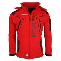 Outdoorbekleidung Geographical Norway Tambour Herren Softshell Jacke, Rot, S