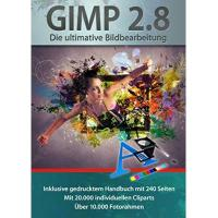 Bildbearbeitungsprogramm Gimp 2.8 Software Paket inkl. 20.000 ClipArts, 10.000 Foto Rahmen und gedrucktem Handbuch von Markt+Technik - Die ultimative Bildbearbeitung und Fotoverwaltungs Software - kompatibel zu Adobe PhotoShop Elements / CS