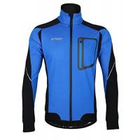 Fahrrad Winterjacke iCreat Herren Jacke Air Jacket Winddichte Lauf- Fahrradjacke MTB Mountainbike Jacket Visible reflektierend, Fleece Warm Jacket für Herbst, Blau Gr.XL