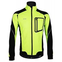 iCreat Herren Jacke Air Jacket Winddichte Wasserdichte Lauf- Fahrradjacke MTB Mountainbike Jacket Visible reflektierend, Fleece Warm Jacket für Herbst, Grün Gr.XL
