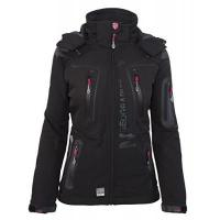 Funktionsjacke Geographical Norway Damen Softshell Funktions Outdoor Regen Jacke Sport [GeNo-20-Schwarz-Gr.L]