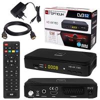 Video-Funkübertragung SATELLITEN SAT RECEIVER ✨ HB DIGITAL DVB-S/S2 SET: Hochwertiger DVB-S/S2 Receiver + HDMI Kabel mit Ethernet Funktion und vergoldeten Anschlüssen (HD Ready, HDTV, HDMI, SCART, USB 2.0, Koaxial Ausgang, Opticum AX150 )