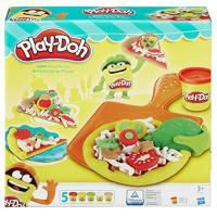 Unechte Lebensmittel Bastelsets für Kinder Hasbro Play-Doh B1856EU6 - Pizza Party, Knete