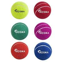 Cricketbälle Kosma Tennis Ball Cricket Ball - Packung mit 6 Pc | Cricket Praxis Kugel (Gelb, Grün, Blau, Orange, Rot, Magentga)