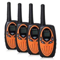 Walkie Talkie FLOUREON 4X PMR Funkgerät Walkie Talkies 8 Kanäle Walki Talki 2-Wege Radio mit LC-Display Orange