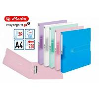 PP-Ordner Ringbuch A4 PP 2-Ring 3,8cm Pastell transparent 5er-Pack sort.