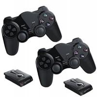 PS2-Controller 2x Funk Controller für PS2 Playstation 2 Dual Vibration, wireless Gamepad PS 2 kabellos