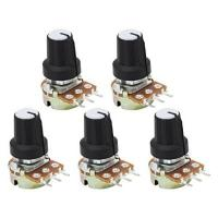 Potentiometer Linear Taper Rotary Volume B Typ Potentiometer Pot 5Pack (10K OHM 3 Terminal)