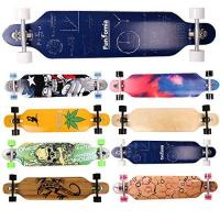 Longboard-Rollen FunTomia® Longboard Skateboard Drop Through Cruiser Komplettboard mit Mach1® ABEC-11 High Speed Kugellager T-Tool mit und ohne LED Rollen