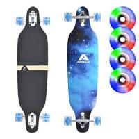 Longboard-Rollen Apollo Longboard BlueSky, Komplettboard, Twin-Tip Drop-Through Freeride Cruiser Board
