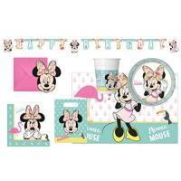 Kinderpartysets Procos 10118241 Kinderpartyset Disney Minnie Mouse Tropical Flamingo