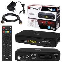 Satelliten-Receiver SATELLITEN SAT Receiver ✨ HB DIGITAL Set: Hochwertiger DVB-S/S2 Receiver mit PVR Funktion Aufnahmefähig + HDMI Kabel vergoldet (HD Ready HDTV HDMI SCART USB Koaxial Ausgang Opticum AX150 )